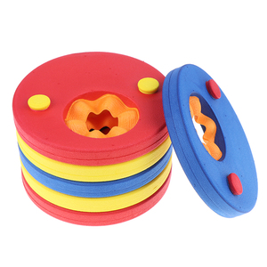 Lote de 6 unidades de discos para nadar de espuma EVA, bandas para los brazos, manguitos flotantes, flotadores inflables para piscina, para bebés, ejercicios de natación, anillos de círculos