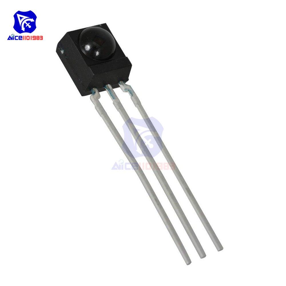 2Pcs DIP-3 IC TSOP4838 IR Receiver Tubes 38Khz Remote Infrared Radiation Module