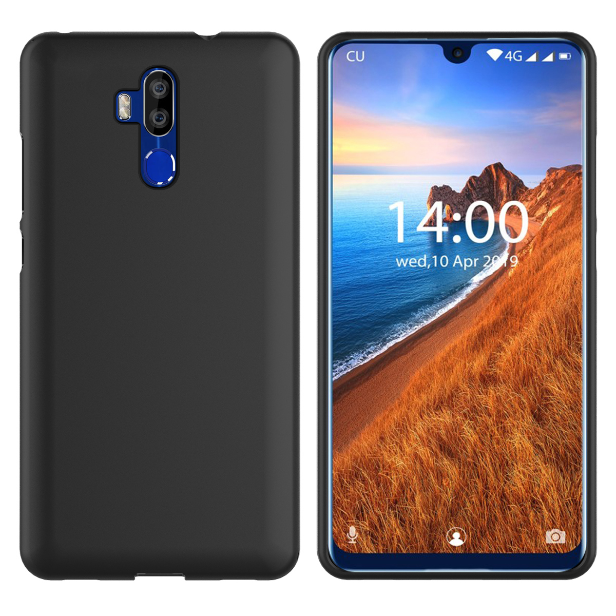 For Oukitel C16 Pro C17 Pro Case Silicon Slim Soft Matte TPU 360 Degree Protective Cover For Oukitel K9 Case Shockproof Armor(China)