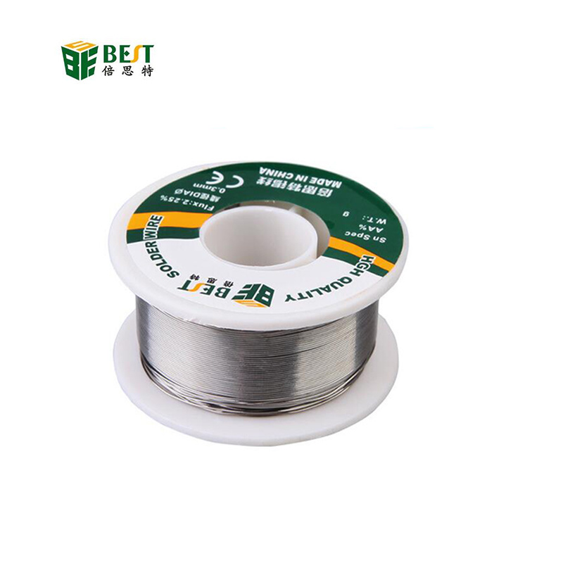 wholesale New 1Pcs BEST 1.2mm <font><b>Solder</b></font> Wire Material Sn60 Pb40 Tin Line 100g Welding Wire Tin Rosin Flux Soldering image
