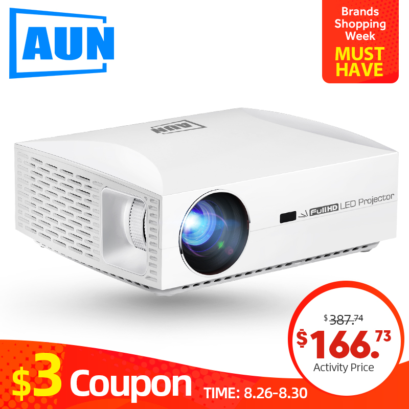 AUN Full HD Projector F30UP, 1920x1080P. Android (2G+16G) 5G WIFI, LED MINI Projector for Home Theater, Support 4K video Beamer