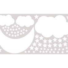 Детские настенные наклейки, Луна, наклейка на стену, облако, кожура и палка, ночная наклейка с изображением неба для детской комнаты, детская комната для девочек и мальчиков, спальня