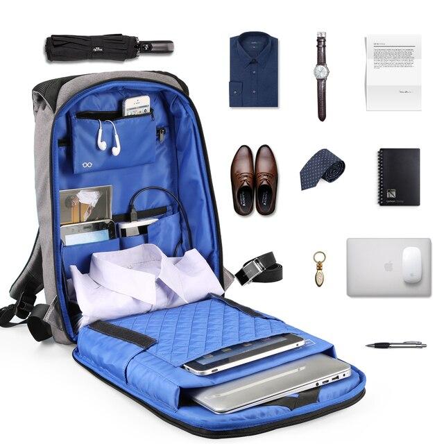 Kingsons  Laptop Backpack Men Women 13 15 USB Chargin Anti-theft Lock Travel Backpack Phone Sucker School Bag Fashion Backpack 5