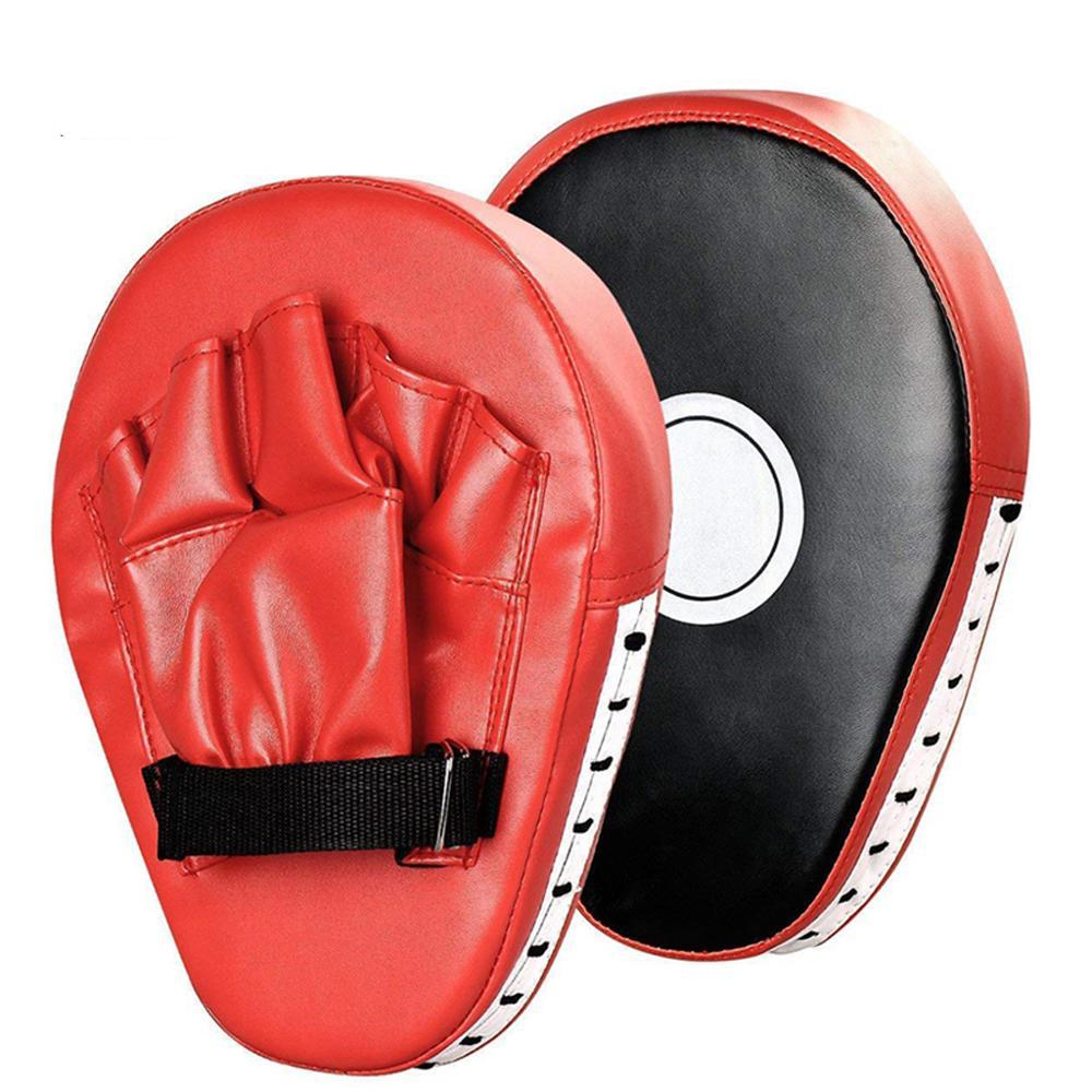 2-PCS-Kick-Boxing-Gloves-Pad-Punch-Target-Bag-Men--PU-Karate-Muay-Thai-Free (3)