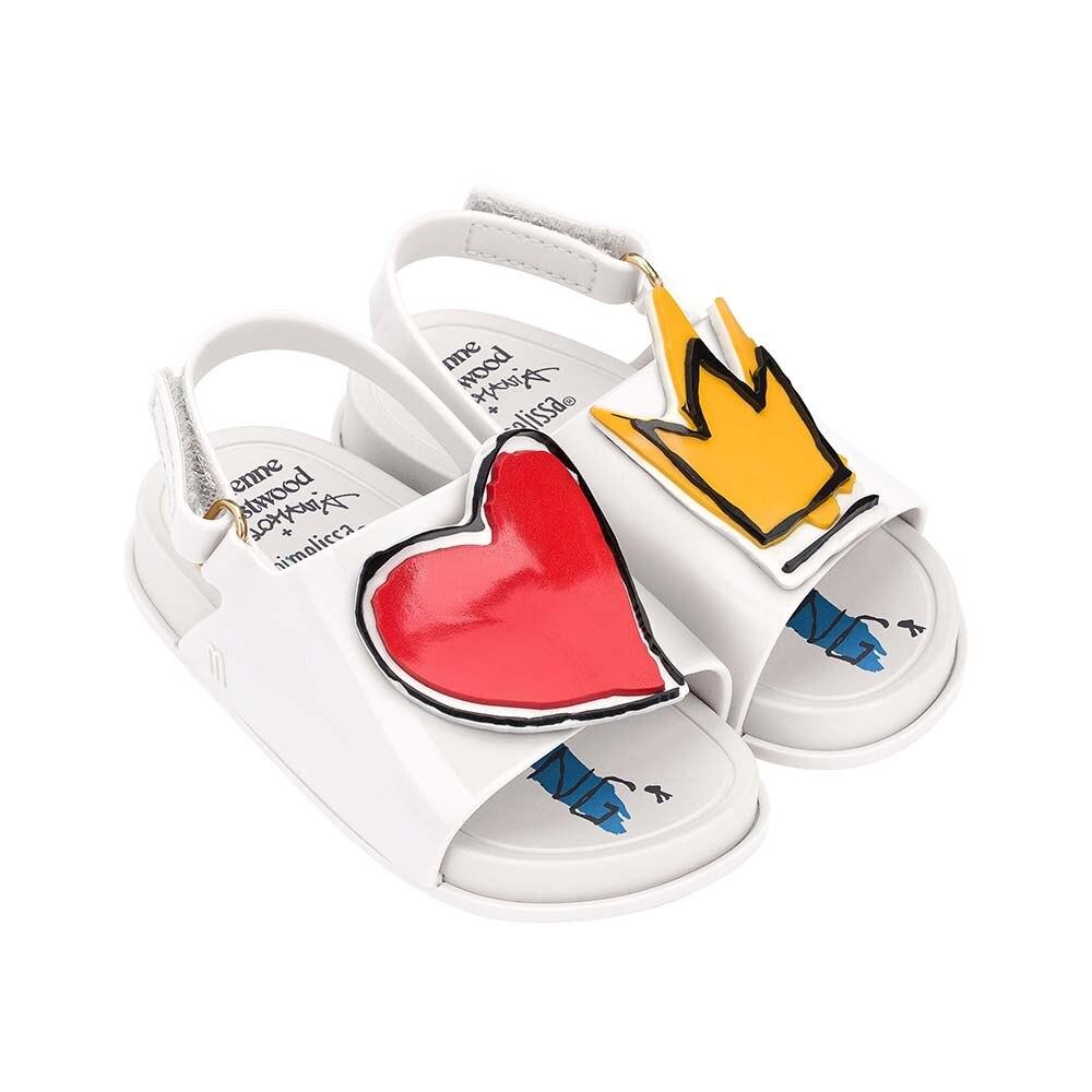 Mini Melissa  2020 New Kids Sandals Girls Love Crown Shoes Girl Sandals Kids Beach Sandals Breathable Melissa Children Shoes