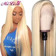 28 Inches 613 Lace Front Wigs Brazilian Straight Lace Front Wig For Black Women Remy Hair Lace Front Human Hair Wigs Pre Plucked(China)