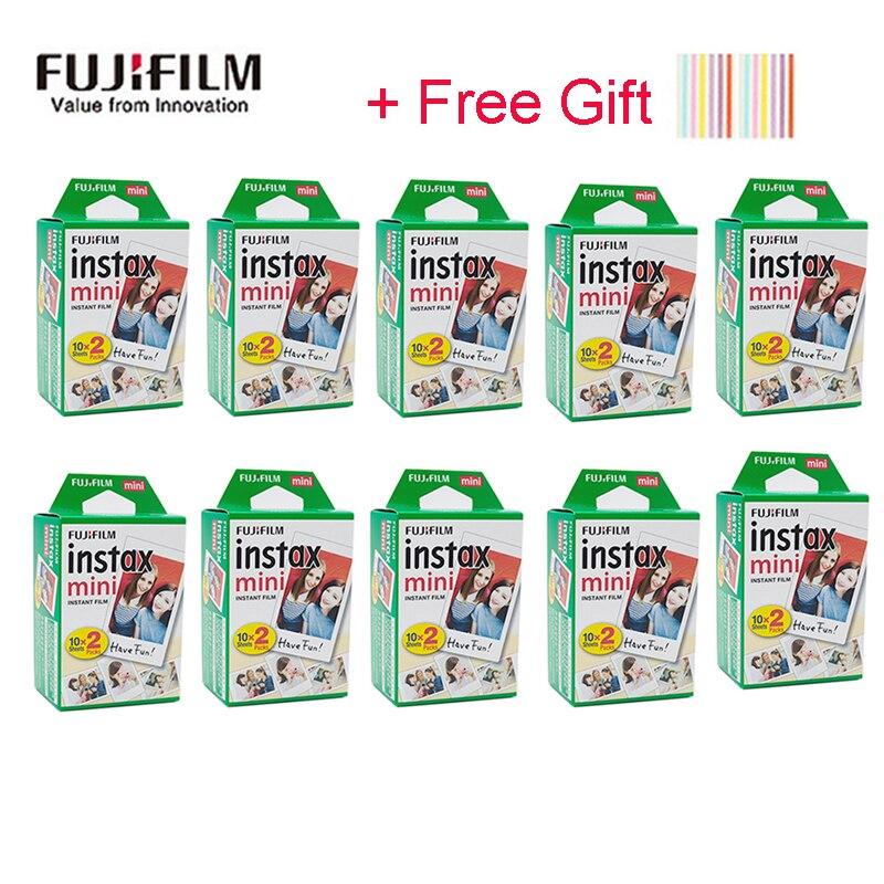 20-200 листов белых цветных пленок Fuji Fujifilm instax mini 9 8 для камеры instax