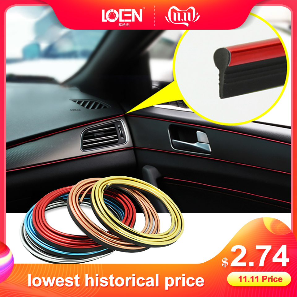 5 Meters Refitting Accessories Car Moulding Strip For MK6 GOLF 5 6 7 mk7 Sagitar Scirocco Tiguan Accessories Gap Insert Strip-in Car Stickers from Automobiles & Motorcycles