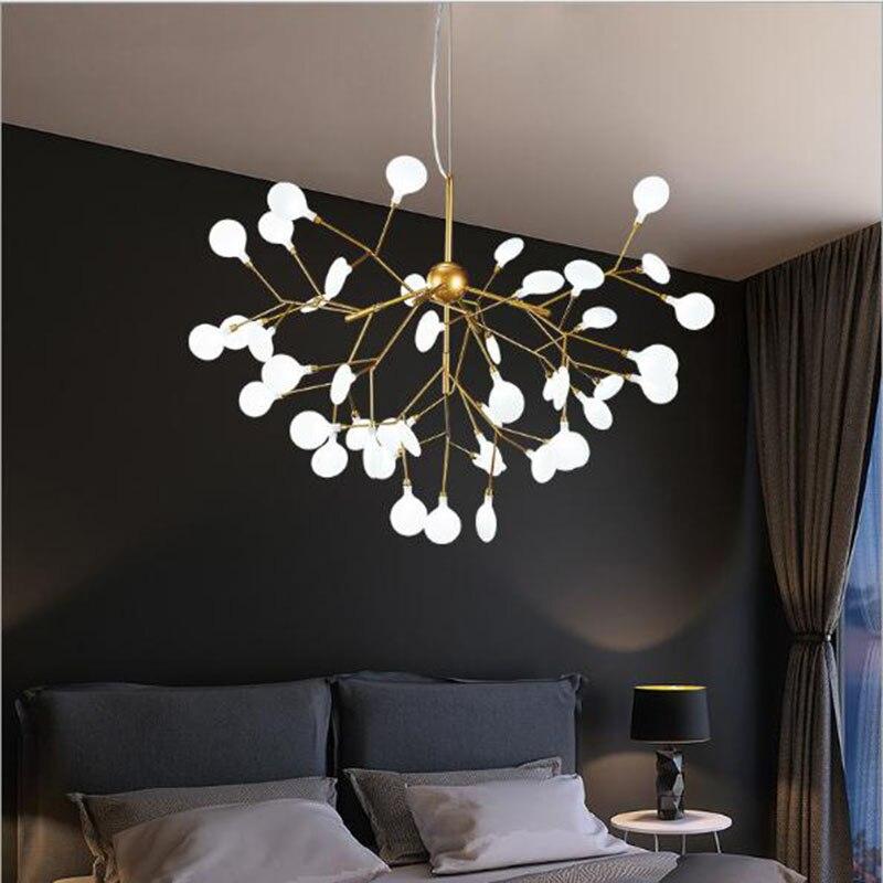 Modern Led Ceiling Lights Black Gold Lamparas De Techo Dining Living Room Bedroom Restaurant Lighting Fixture Art Ceiling Lamp