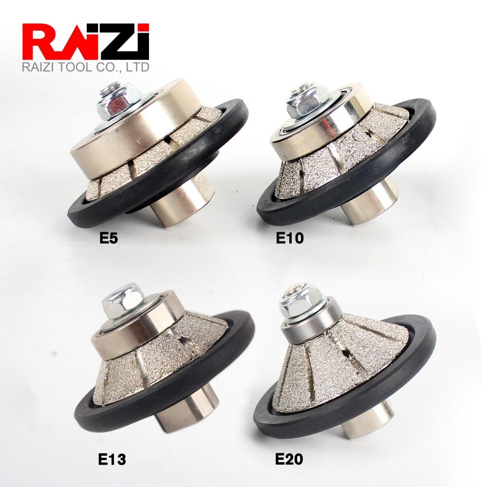 Raizi Vacuum Brazed Hand Profiler Wheel Bevel 5-20 Mm Diamond Profile Grinding Wheel For Angle Grinder On Granite Marble Stone