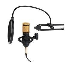 Freeboss KIT de BM-800 support de bras en plastique antichoc 3.5 prise Studio enregistrement Vocal diffusion ordinateur PC condensateur Microphone