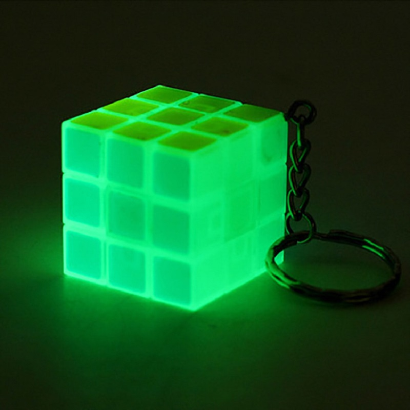 Green Glow in Dark 3x3 3x3x3 Luminous Mahjong Magic Cube Twist Puzzle Braintease