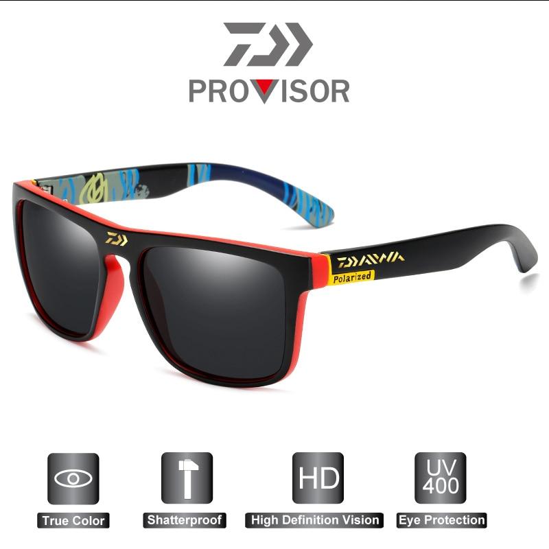 2020 Daiwa Fashion Men's Anti-UV Fishing Sunglasses Outdoor Polarized Cycling Sunglasses Retro Sports Sunglasses