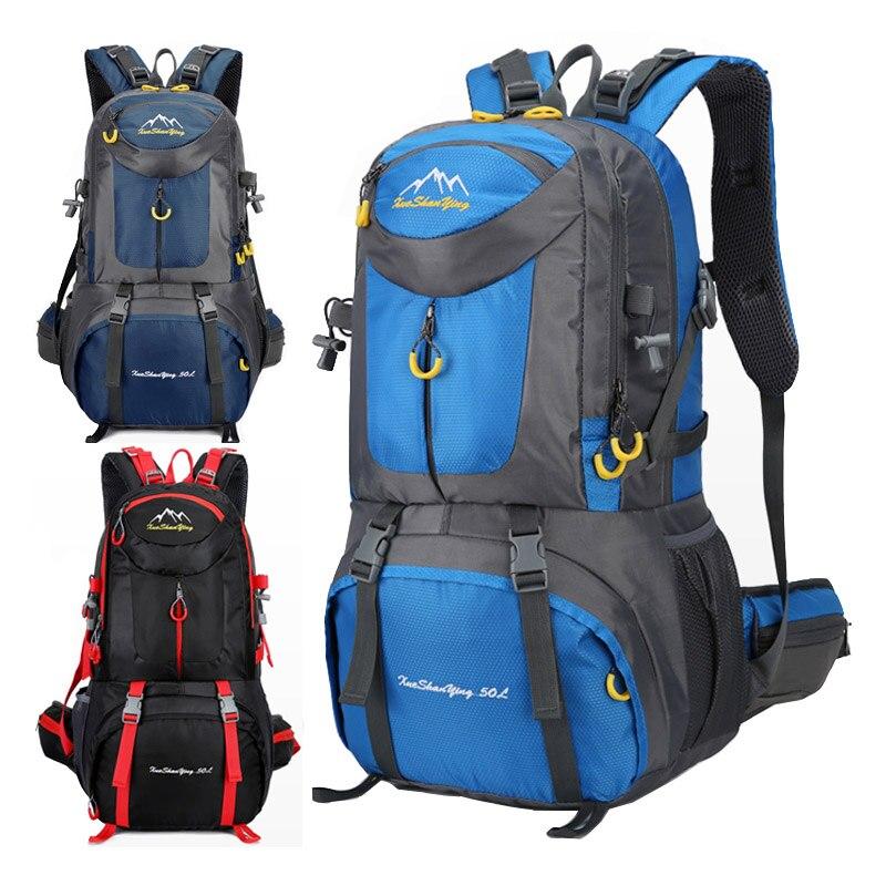 40/50/60L Large Capacity Hiking Backpack Men Mountain Waterproof Bags Unisex Camping Travel Backpacks Outdoor Sports Bag Pack