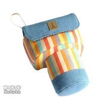CamDress Rainbow stripes Canvas bag lightweight design Wear-resistant Senior handmade Customized photography