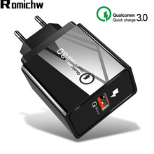 ROMICHW 3.0A Quick Charge 3.0 Fast Charger For iPhone X 8 Samsung Xiaomi Redmi N