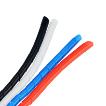 Câble en spirale de 2M 8mm, manchon de câble enroulé ignifuge, manchon de câble coloré, tuyau d'enroulement
