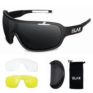 Image 2 - ELAX Brand 2019 New 3 Lenses Sport Cycling Glasses Men Women Outdoor Cycling Sunglasses Mtb Bike Bicycle Eyewear UV400 Goggles