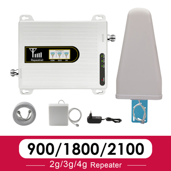 2020 Cellular Signal Booster 900 1800 2100 Tri Band Signal Repeater GSM 2g 3g 4g DCS