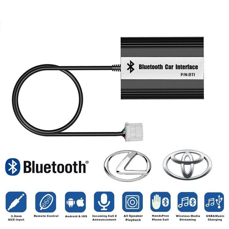 LISIDIC A2DP lecteur de musique MP3 voiture adaptateur Bluetooth USB AUX pour Toyota avensis camry yaris corolla pour Lexus 5 + 7p 6 + 6p Interface