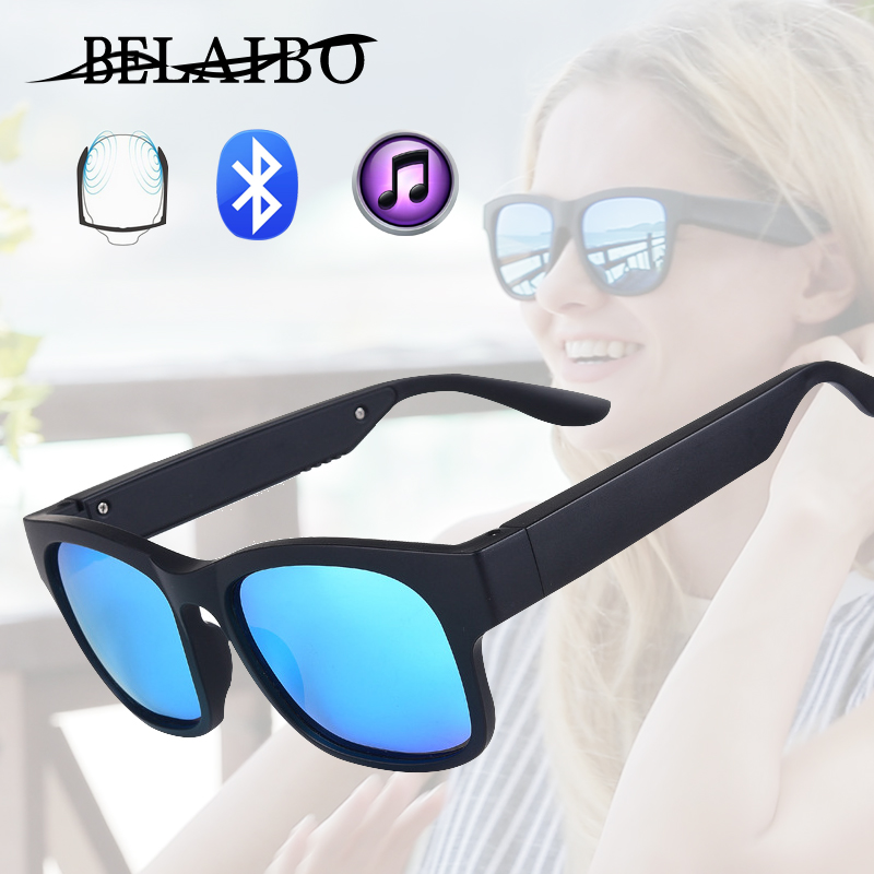 Polarized Sunglasses Bluetooth Bone Conduction Headset Man&woman Smart Glasses Wireless Sport Stereo Audio Headphone Sunglasses