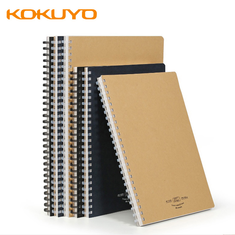 KOKUYO Softring Soft Coil Notebook Notebook Soft Coil Convenient and Hand-free A5 / B5 Convenient Rollover Student Stationery