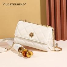 OLDSTERHEAD Fashion Plaid Bag Lady Casual Women's Split Leather Shoulder Messenger Bag Girl's Crossbody Bag Mother's Day Gift