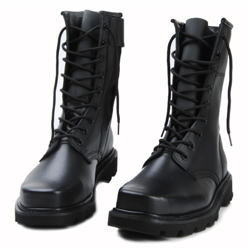 Male Genuine Leather Warm Fur Boots Plus Size Combat and Steel Head Steel High Tooling Man Boots 38-48