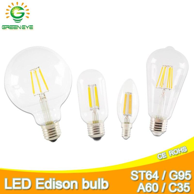 Dimmable LED Light Bulbs E12 E27 E14 2W To 8W Edison Retro Vintage Filament Lamp