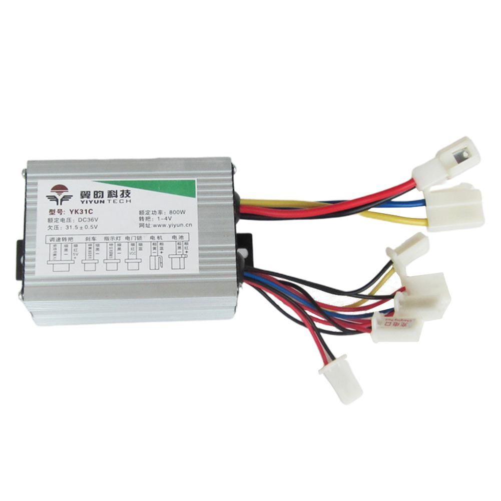 36V 48V 800W DC Brush Motor Controller E Bike Scooter Engine Generator Anti-speeding Electric Bicycle Parts