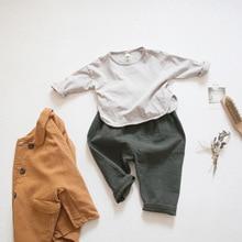 Kids Shirts Tops Clothing Long-Sleeve Toddler Girls Korean Fashion Children Autumn