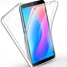360 Derajat Silicone Bening Cover untuk Xiaomi Redmi6 Redmi 6 Fashion Case 2 In 1 Hard Pc Back + Lembut TPU Penutup Depan(China)