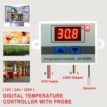 цена на 12V/ 24V/ 220V Digital Temperature Controller Thermostat Thermoregulator Aquarium Incubator Water Heater Temp Regulator -50~110C