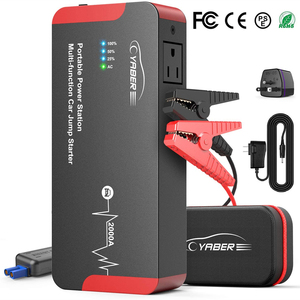 Yaber YR700 High Quality 2000A Jump Starter Emergency Car Jump starter Battery Power Bank Auto Booster 22000mAh 100W AC Output