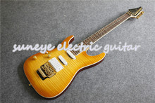 цена на Custom Shop Left Handed Custom Guitar Electric Tiger Grain Finish Gold Hardware Electric Guitar Kit & Body Custom Available