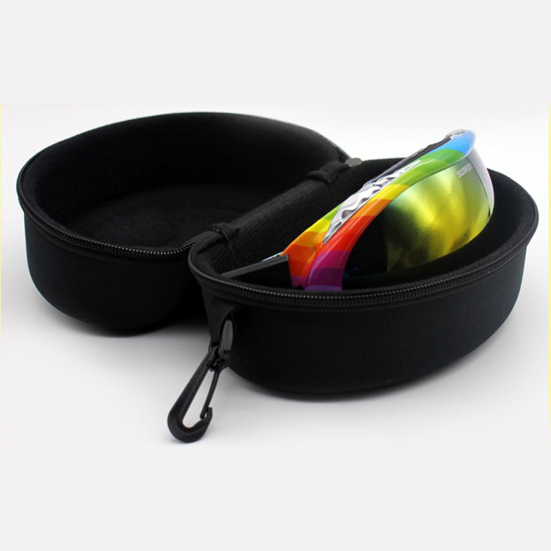 Adult Child Snow Ski Eyewear Case Portable Water Resistant Snowboard Skiing Goggles Zipper Hard Box