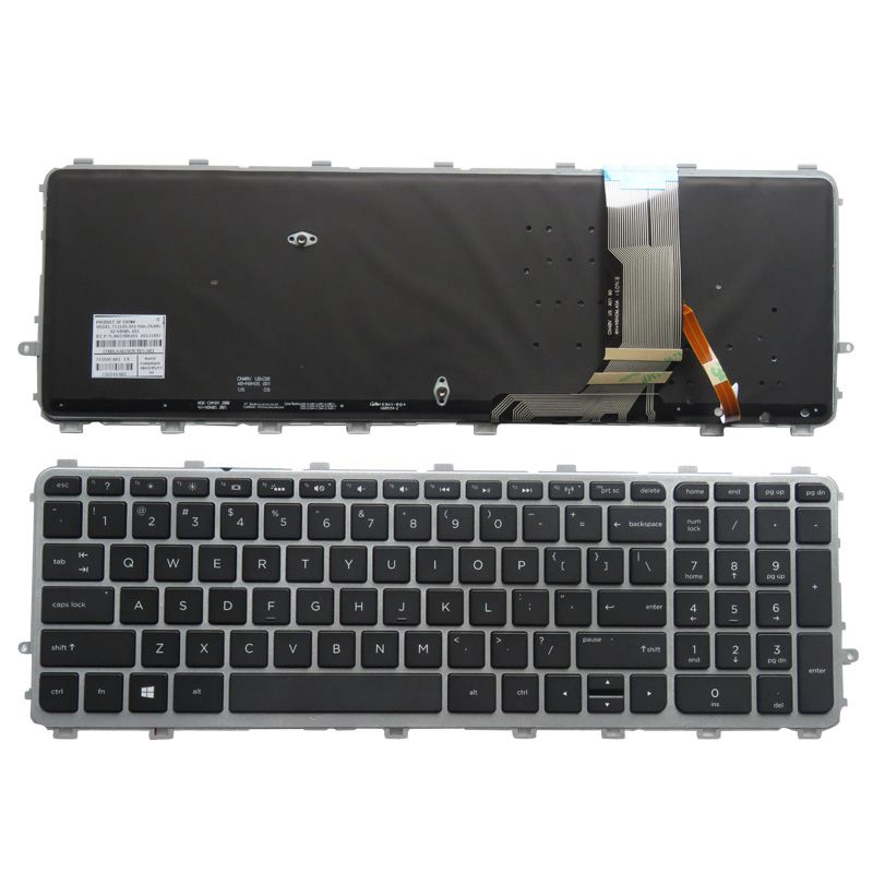 YALUZU New English Backlit Keyboard For HP ENVY 17t-j000 15-j000ea 15-j003la 6037B0082701 720244-161 17-j184na 17-j184nr