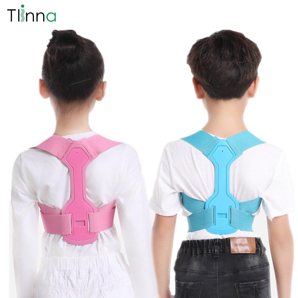 Tlinna Children Kid Shoulder Back Brace Support Adjustable Magnetic Posture Corrector Spine Lumbar Support Brace Belt