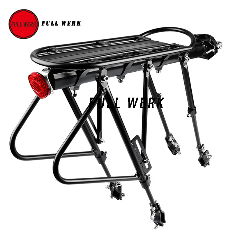 Mountain Bike Bicycle Cargo Rack Aluminum Bicycle Luggage Carrier Mountain Bicycle Road Bikes Rear Rack Bracket Holder Stand
