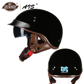 AIS Retro Helmet Motorcycle Men Women Moto Helmet Summer Open Face Scooter Biker Motorbike Riding Helmet Cascos Para Moto