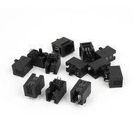 블랙 12 pcs 4 핀 pcb 장착 유형 rj11 4p4c 모듈 형 전화 잭 소켓|커넥터|   -