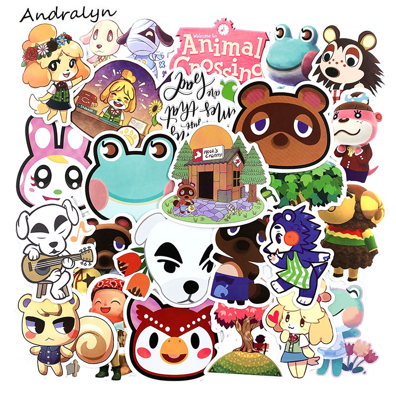 10/30/50Pcs Animal Crossing Stickers Hot Game For Laptop Guitar Motocycle Luggage Skateboard Helmet Surfboard Bicycle Stickers
