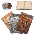 Чехол со слоном для ноутбука в европейском стиле  винтажный дорожный дневник  блокнот с рельефным эффектом  милый дневник из искусственной ...
