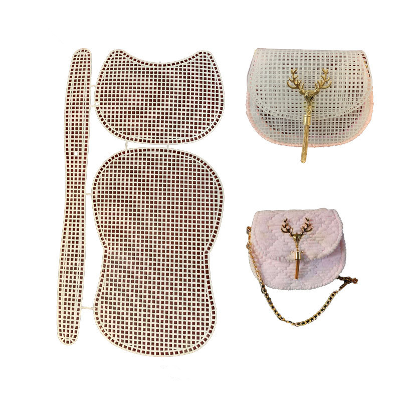 Knitting Lining  Weaving Plastic Mesh Sheet accessories wool Yarn Chenille Velvet DIY Hok Bag Trim Tools Easy Knit Helper
