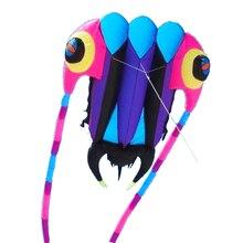 Новое поступление спорт на открытом воздухе одиночная линия 7sqm программное обеспечение питания воздушный змей трилобит/животные воздушные змеи выход фабрики