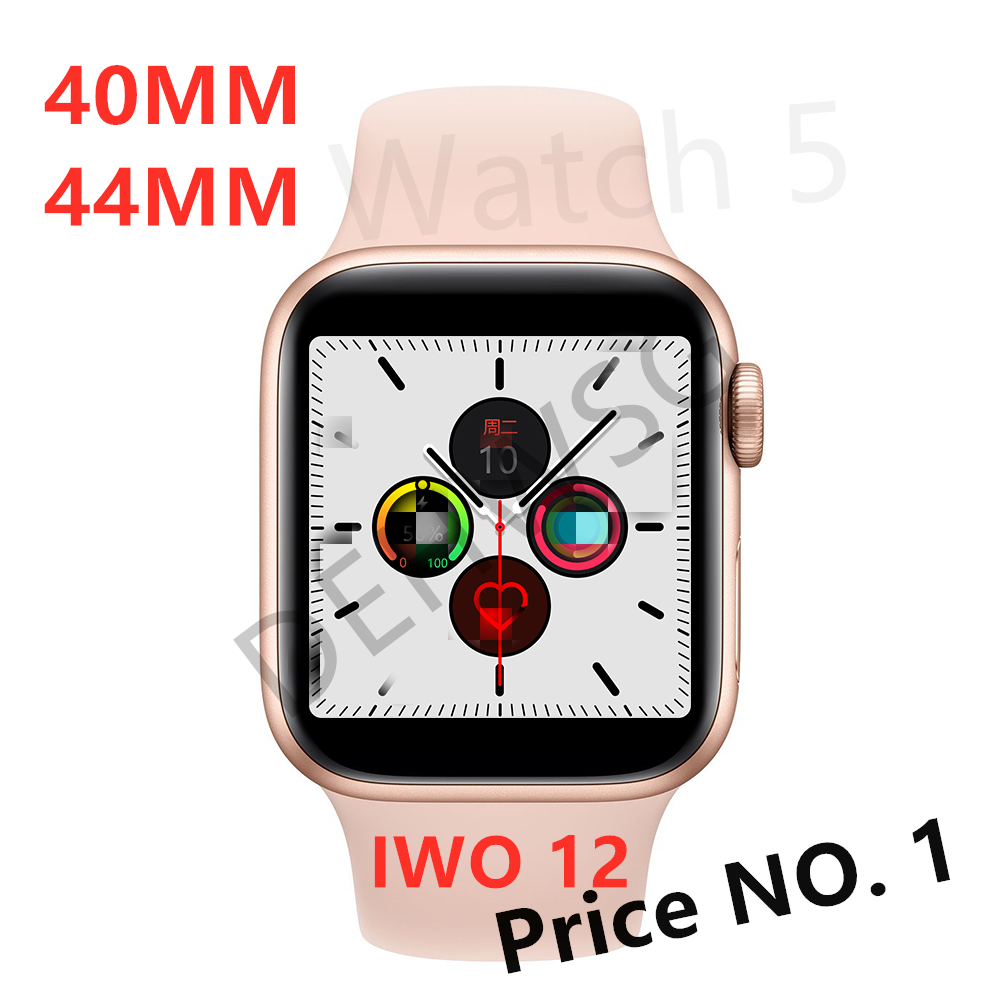 <font><b>IWO</b></font> 12 <font><b>Smart</b></font> <font><b>Watch</b></font> <font><b>IWO</b></font> <font><b>8</b></font> upgrade Series 5 Waterproof 40MM <font><b>44MM</b></font> More Face ECG+PPG Heart Rate IWO12 Smartwatch For Apple Android image