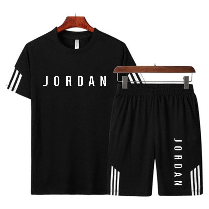 2021 verão moda casual de marca de roupa esportiva masculina terno esportivo esportivo masculino t-shirt de manga curta conjunto