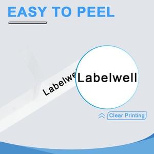 Image 5 - Labelwell 10 stücke Kompatibel laminiert tze 231 tz231 tze231 12mm Schwarz auf weiß band tze 231 tz 231 für Brother p touch drucker