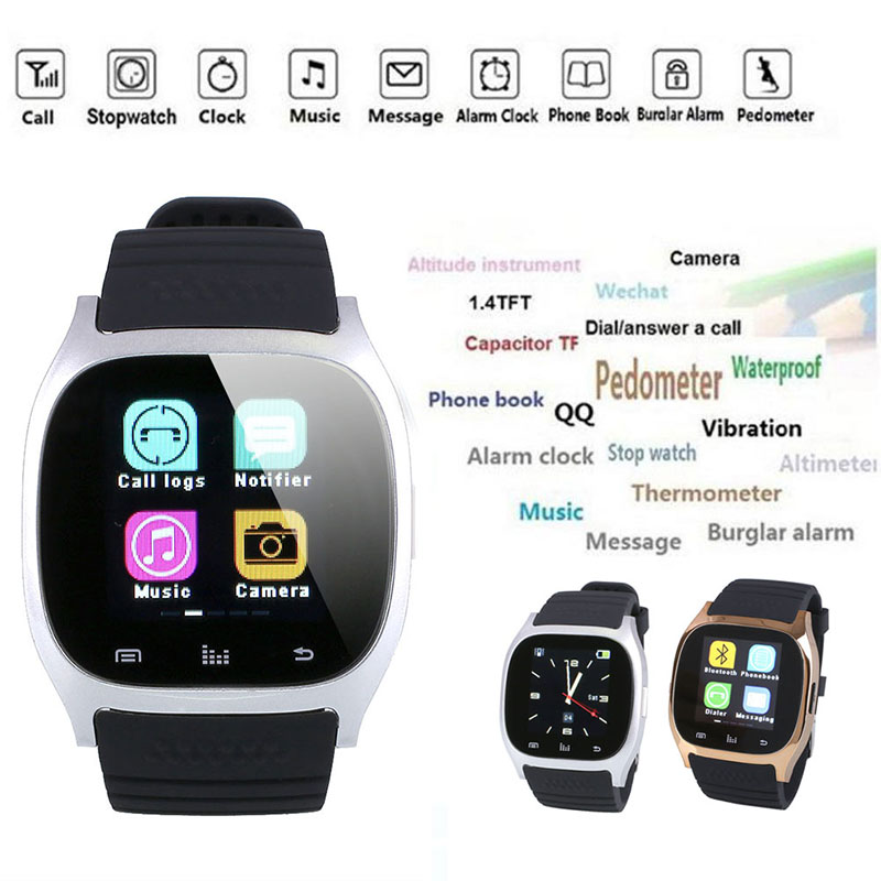 Silver Smart Watch Week Stopwatch SMS Reminding Anti-Lost Alert For Android Alarm Clock