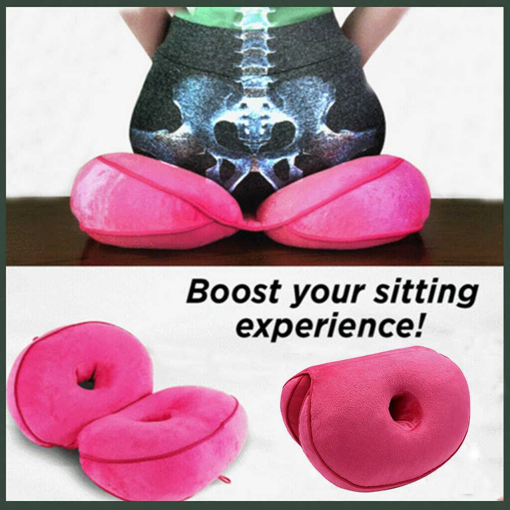 New Dual Comfort Cushion Latex Seat Orthopedic Lift Hips Up Seat Beautiful Butt Seat Cushion Comfy Help Back Pain Dropshipping